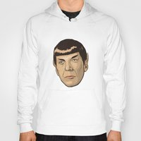 spock Hoodies featuring Spock by Mimi