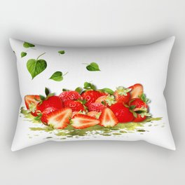 Erdbeeren Rectangular Pillow