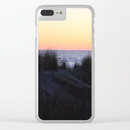 Sunset Over The Dunes Clear iPhone Case