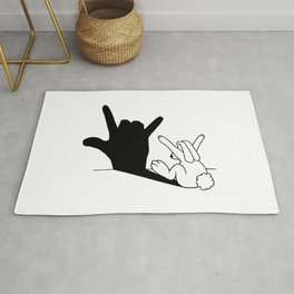 Rabbit Love Hand Shadow Rug