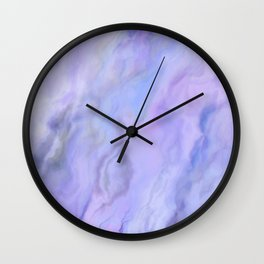 Pastel Blue Marble Wall Clock