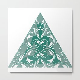 Yoga Dreieck Pyramide Muster Spirituell Metal Print