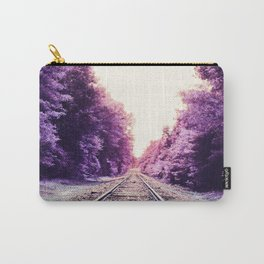 Amethyst Orchid Train Tracks Carry-All Pouch