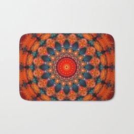 Tangerine Orange Mandala Design Badematte