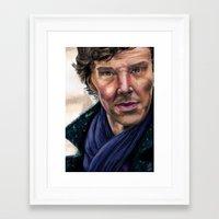 cumberbatch Framed Art Prints featuring Benedict Cumberbatch by TCSherlockian