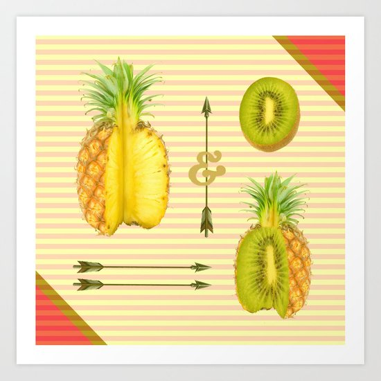 what if a pineapple fall in love with a kiwi ? Art Print