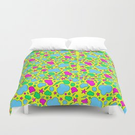 Candy chaotic storm Duvet Cover