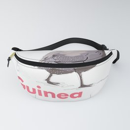Guinea Hen Fowl Farm Animals Country Poultry Guineafowl T-Shirt Fanny Pack