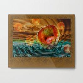 Looking through a Glass Onion Metal Print