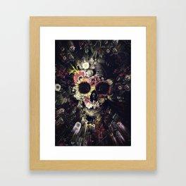Garden Skull Framed Art Print