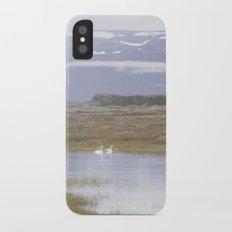 Swans of Iceland iPhone X Slim Case