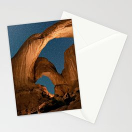 Double Arch In Arches National Park Stationery Cards