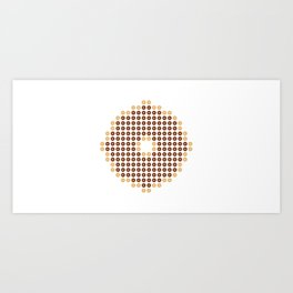 Chocolate Donut Mosaic Art Print