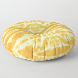 Yellow Tie Dye Twos Floor Pillow