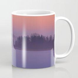 Foggy Winter Evening With Beautiful Sunset Colors In The Sky #decor #buyart #society6 Coffee Mug