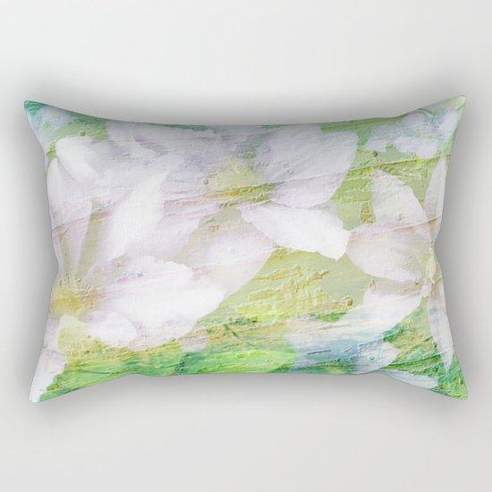 Vintage Soft Pastel Floral Rectangular Pillow