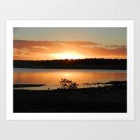 Sunset at Queensland's Taj Mahal Art Print