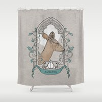 snape Shower Curtains featuring Severus by Zeke Tucker