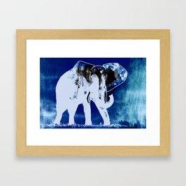 Elephant (blue version) Framed Art Print