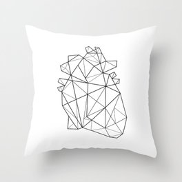 Origami Heart Throw Pillow