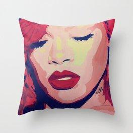 Rihanna Painting Throw Pillow