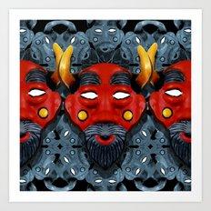 Devil pattern Art Print