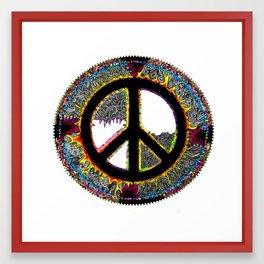 Frankie's Peace Sign Framed Art Print