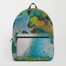 Burning Embers - Abstract Acrylic Art by Fluid Nature Backpack