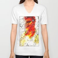 grunge V-neck T-shirts featuring Grunge by Eleigh Koonce