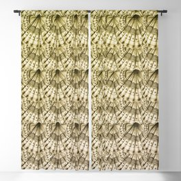 Dystopian Cockle - Gold Blackout Curtain
