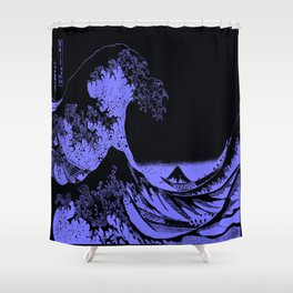 The Great Wave Periwinkle Lavender Shower Curtain