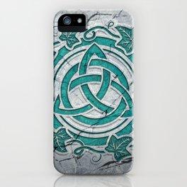 Celtic Triquetra symbol - Irish Holy Trinity symbol - Triple Goddess symbol iPhone Case