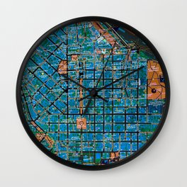 Odessa old map Wall Clock