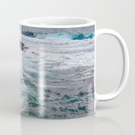 troubled waters rocky shore Coffee Mug
