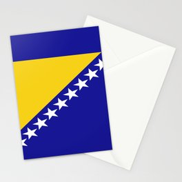 Flag of Bosnia – Bosnian,Bosniak,herzegovinian,bosna,Sarajevo,Balkan,yugoslavia. Stationery Cards