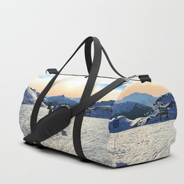 The snow, signs, shadows, sun, sky - and the surrounding! Duffle Bag