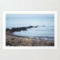 denmark Art Prints featuring Denmark Beach by Kayleigh Rappaport
