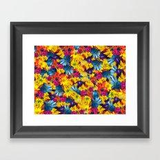 Rainbow Daisies Framed Art Print