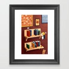 Small Books Framed Art Print