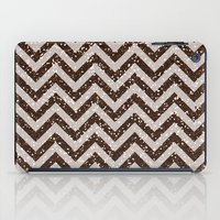 bisexual iPad Cases featuring Sparkling glitter chevron pattern - coffee IV by Better HOME