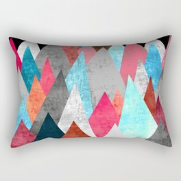 Wolf on Blue Peak Rectangular Pillow