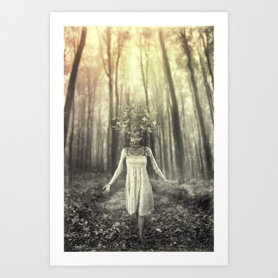 Mothwoman Art Print