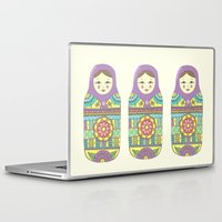 russian Laptop & iPad Skins featuring Russian Doll by haleyivers