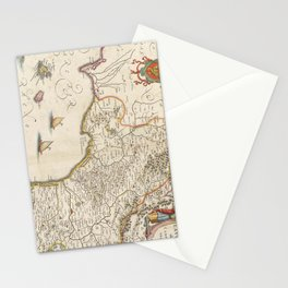 Vintage Map of Campania Italy (1662) Stationery Cards