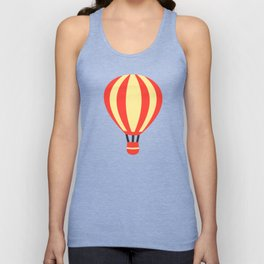 Classic Red and Yellow Hot Air Balloon Unisex Tank Top