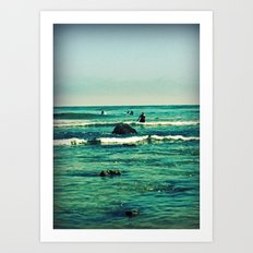 In the Surf Art Print
