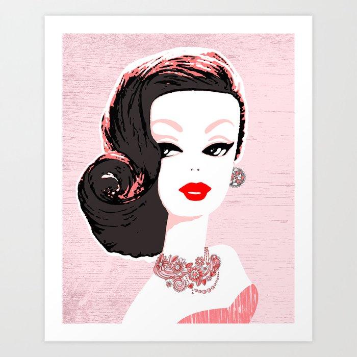 Barbie in Jewels Art Print
