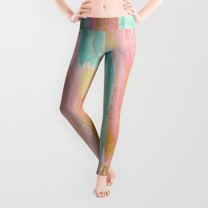 Gilded pastels Leggings