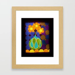 Three Groovy Flowers  by Anthony Davais Framed Art Print