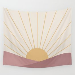 Morning Light - Pink Wall Tapestry